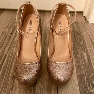 Gorgeous Glittering Stilettos with an ankle strap